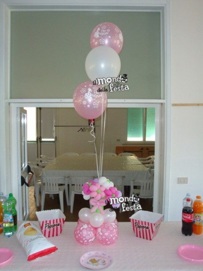 Decorazioni palloncini battesimo pg49 pineglen - Decorazioni battesimo bimbo ...